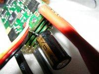 Spálené kondenzátory na regulátoru